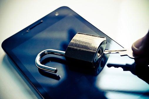 Phone hacking security lock