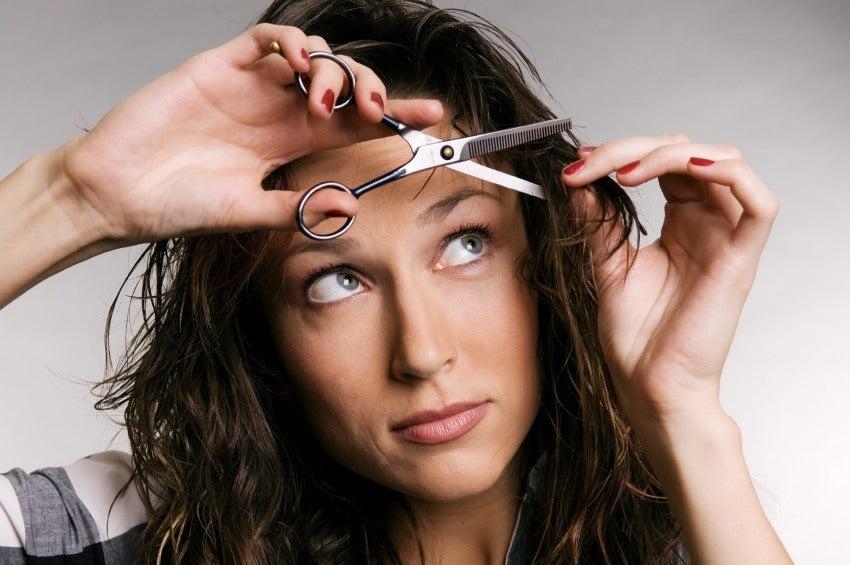 cutting your own hair thumbnail