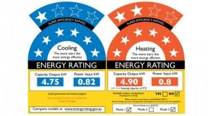 energy rating system for air conditioners
