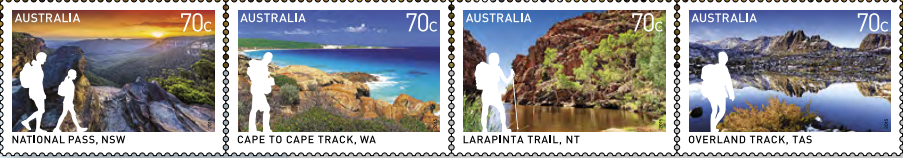 great australia post stamps walks banner