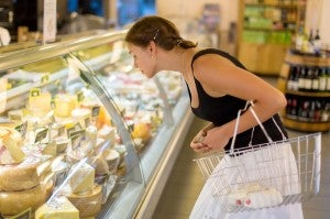looking at cheese