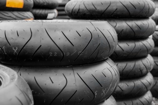 Stacks of tyres